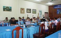 Voting Session of at the General Assembly of the Hongsa Mahout Association