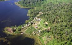 Aerial view of the Elephant Conservation Center, Sayaboury, Laos